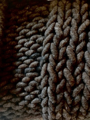 Blanket, Super Chunky Black Knit
