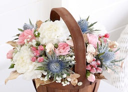 Christmas Flowers - Petite Winter Basket