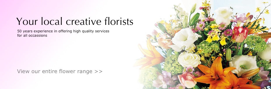 Creative Florist Delivering White Flowers