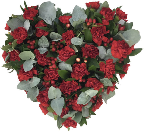 Carnation Heart Funeral Flowers