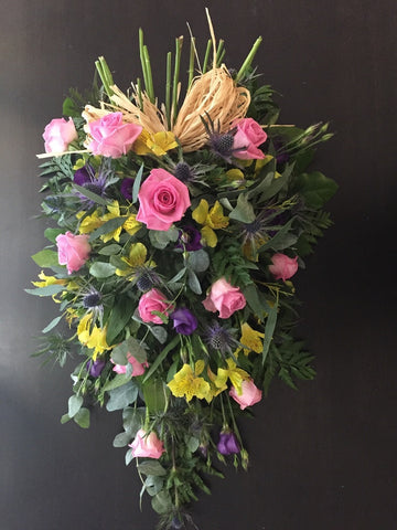 Funeral Flowers - Pastel Woodland Spray