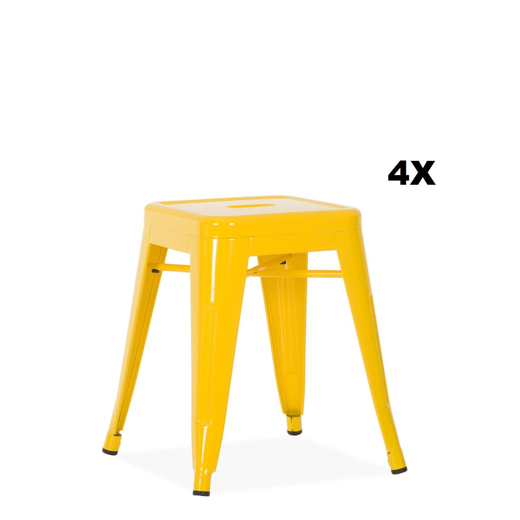 Pack 4x Tabourets Style Tolix PAUCHARD