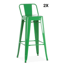 Pack 2x Chaises de Bar Style Tolix PAUCHARD