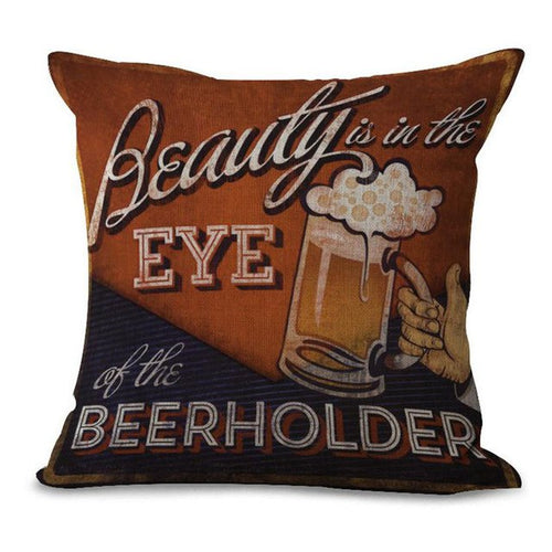 Housse Coussin Style Old Beer