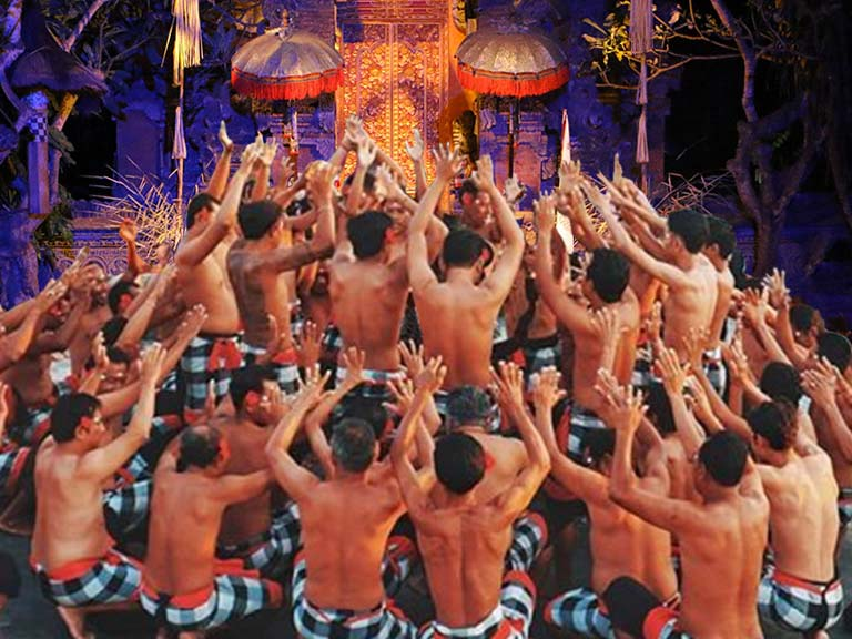 3-6h+ Kecak Fire, Trance & Monkey Dance Show near Ubud Incl. Hotel Transfer