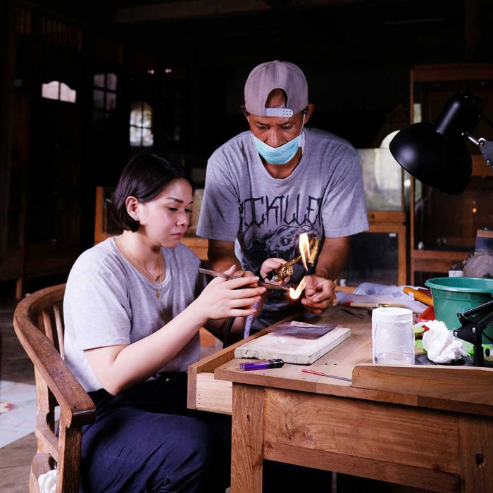 2days Silver Jewelry Class for Beginners at Celuk near Ubud