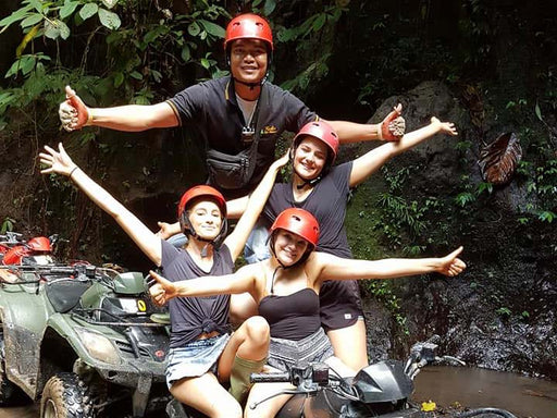 Ubud ATV Ride on Tandem Quad + Rafting, Swing, Tubing or Cooking Class