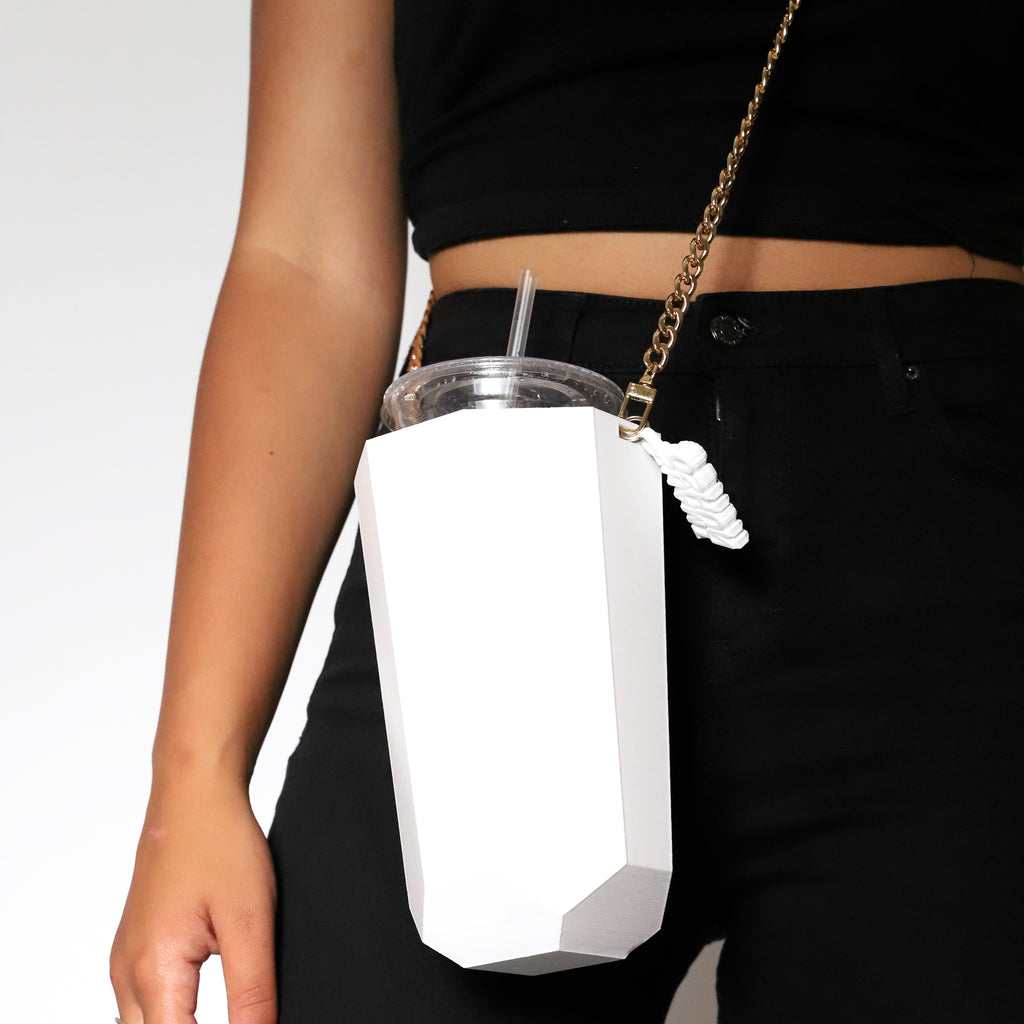 White Bev Bag