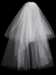 Color=White | Plain Pleated Chiffon Wedding Dress With Lace Decorations-White 8