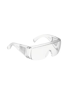 Color=transparent  | Breathable Scratch Resistant Flat Mirror Wholesale Protective Eyewear-Transparent  2