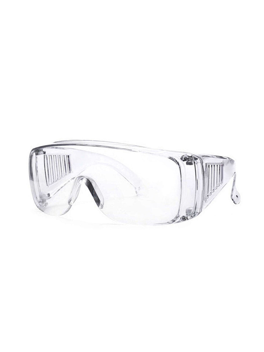 Color=transparent  | Breathable Scratch Resistant Flat Mirror Wholesale Protective Eyewear-Transparent  1