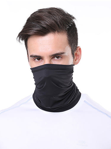 Color=Black | Adult Protective Neck Gailter Wholesale Face Mask For Sports-Black 1