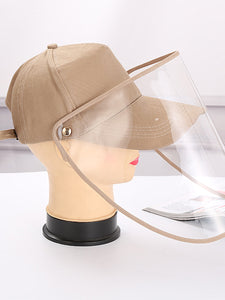 Color=Mushroom | Wholesale Anti-Saliva Spring And Summer Removable Shade Protective Hat-Mushroom 2