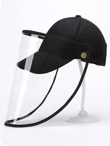 Color=Black | Wholesale Simple Outdoor Detachable Adjustable Protective Baseball Hat-Black 1