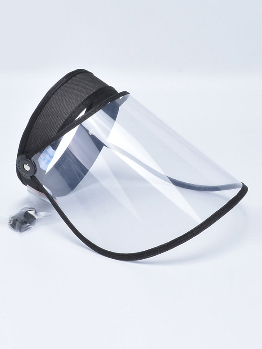 Color=Black | Wholesale Protective Hd Transparent Adjustable Detachable Safety Face Shield-Black 1
