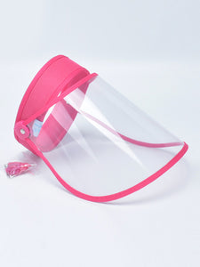 Color=Coral | Wholesale Protective Hd Transparent Adjustable Detachable Safety Face Shield-Coral 1