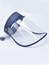 Load image into Gallery viewer, Color=Navy Blue | Wholesale Protective Hd Transparent Adjustable Detachable Safety Face Shield-Navy Blue 1