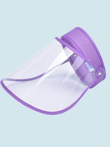 Color=Purple | Wholesale Protective Hd Transparent Adjustable Detachable Safety Face Shield-Purple 2