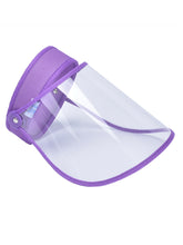 Load image into Gallery viewer, Color=Purple | Wholesale Protective Hd Transparent Adjustable Detachable Safety Face Shield-Purple 1