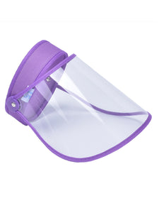 Color=Purple | Wholesale Protective Hd Transparent Adjustable Detachable Safety Face Shield-Purple 1