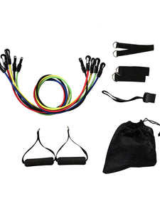Color=Black | Yoga Resistance Bands Set For Strength Training-Black 2