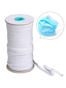 Color=White | Width Elastic Band Diy Cloth Face Covering For Protective Equipment-White 2