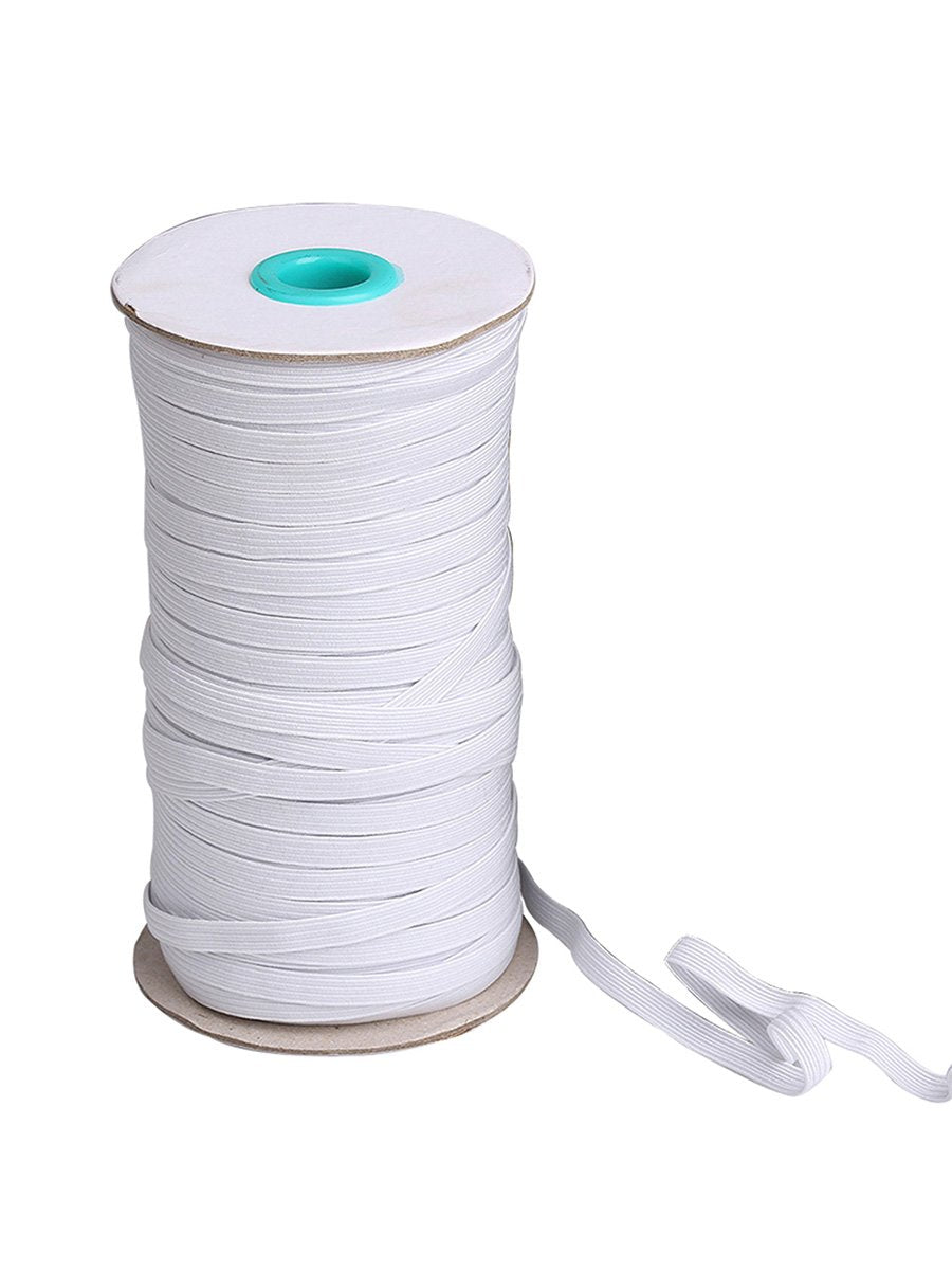 Color=White | Width Elastic Band Diy Cloth Face Covering For Protective Equipment-White 1