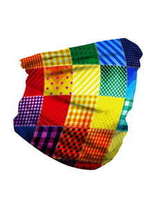 Color=Multicolor1 | Seamless Bandana Face Covering Neck Gaiter Scarf-Multicolor1 3