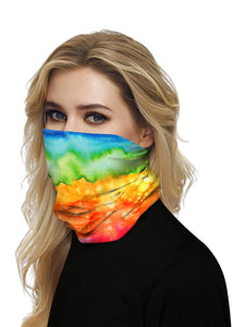 Color=Multicolor2 | Seamless Bandana Face Covering Neck Gaiter Scarf-Multicolor2 2