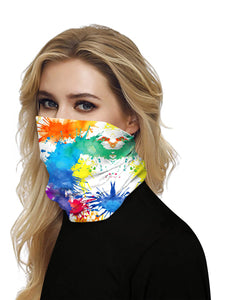 Color=Multicolor4 | Seamless Bandana Face Covering Neck Gaiter Scarf-Multicolor4 2