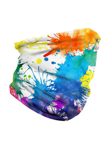 Color=Multicolor4 | Seamless Bandana Face Covering Neck Gaiter Scarf-Multicolor4 3
