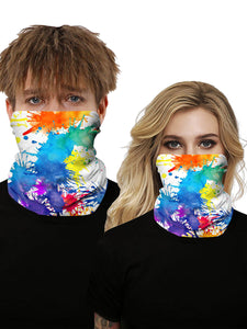Color=Multicolor4 | Seamless Bandana Face Covering Neck Gaiter Scarf-Multicolor4 1