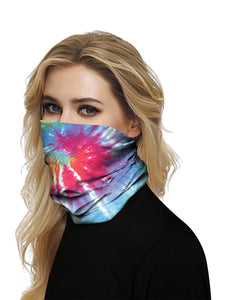 Color=Multicolor5 | Seamless Bandana Face Covering Neck Gaiter Scarf-Multicolor5 2