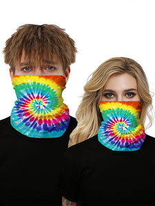 Color=Multicolor6 | Seamless Bandana Face Covering Neck Gaiter Scarf-Multicolor6 1