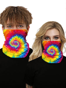 Color=Multicolor7 | Seamless Bandana Face Covering Neck Gaiter Scarf-Multicolor7 1