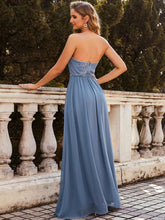 Load image into Gallery viewer, Color=Dusty Navy | Strapless A-line Evening Dress for Women-Dusty Navy 2