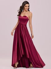 Load image into Gallery viewer, Color=Burgundy | Sweetheart Neck Wholesale Prom Dress With Asymmetrical Hem-Burgundy 3