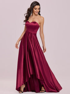Color=Burgundy | Sweetheart Neck Wholesale Prom Dress With Asymmetrical Hem-Burgundy 3
