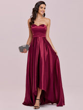 Load image into Gallery viewer, Color=Burgundy | Sweetheart Neck Wholesale Prom Dress With Asymmetrical Hem-Burgundy 4