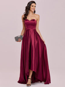 Color=Burgundy | Sweetheart Neck Wholesale Prom Dress With Asymmetrical Hem-Burgundy 4