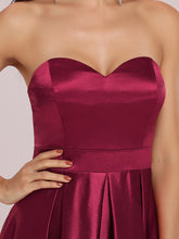 Load image into Gallery viewer, Color=Burgundy | Sweetheart Neck Wholesale Prom Dress With Asymmetrical Hem-Burgundy 5