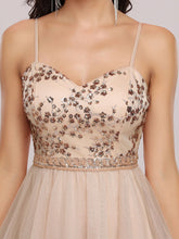 Load image into Gallery viewer, Color=Blush | Women'S Sexy Wholesale Sweetheart Sequin Short Tulle Prom Dress-Blush 5