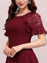 Load image into Gallery viewer, Color=Burgundy | Elegant A-Line Chiffon Wholesale Cocktail Dress For Party-Burgundy 5