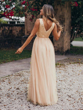 Load image into Gallery viewer, Color=Rose Gold | Women'S Fashion A-Line  Floor Length Bridesmaid Dress-Rose Gold 11
