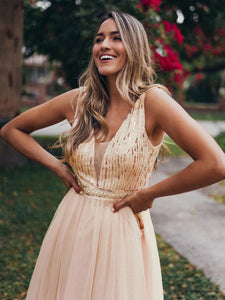 Color=Rose Gold | Women'S Fashion A-Line  Floor Length Bridesmaid Dress-Rose Gold 13