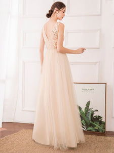 Color=Rose Gold | Women'S Fashion A-Line  Floor Length Bridesmaid Dress-Rose Gold 15