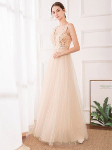 Color=Rose Gold | Women'S Fashion A-Line  Floor Length Bridesmaid Dress-Rose Gold 16