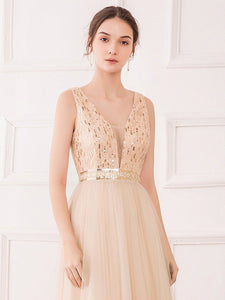 Color=Rose Gold | Women'S Fashion A-Line  Floor Length Bridesmaid Dress-Rose Gold 18