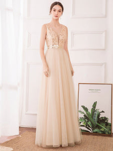 Color=Rose Gold | Women'S Fashion A-Line  Floor Length Bridesmaid Dress-Rose Gold 14