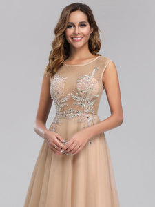 Efashiongirl Ever-Pretty Women's A-Line See-through Cap Sleeve Evening Dresses EP00902